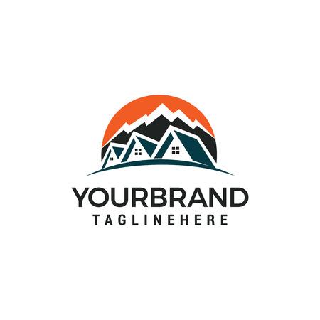 mountain house Logo Template vector illustration design
