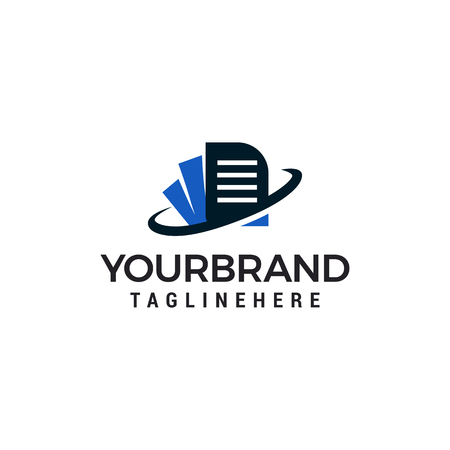 document Logo Template vector illustration design