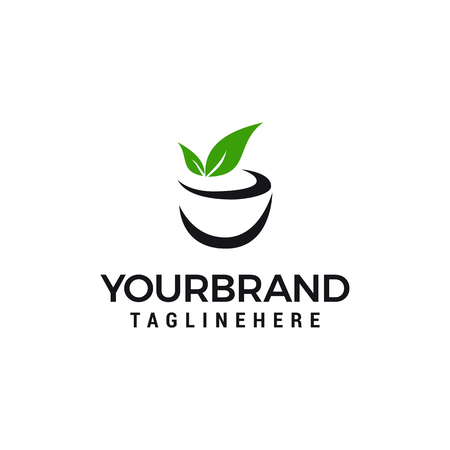 tea drink Logo Template vector illustration design