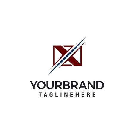 Letter X square Logo Template vector illustration design