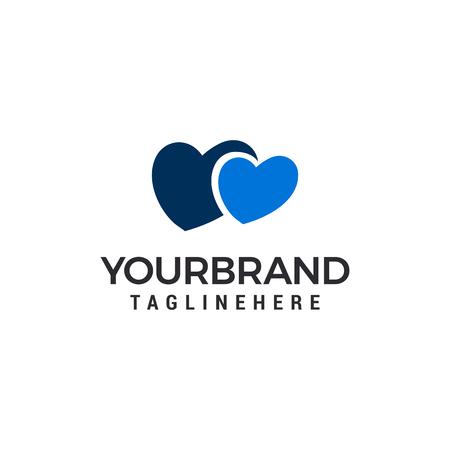 Love heart couple Logo Template vector illustration design