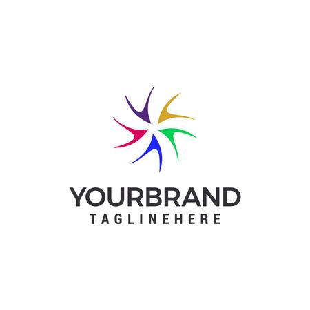 Modèle de logo vortex conception d'illustration vectorielle Logo