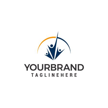 vector people logo design template elements
