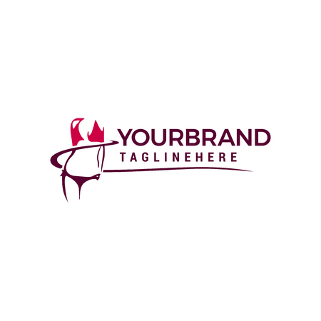 Female Body Illustration logo design template elements Banque d'images - 115782005
