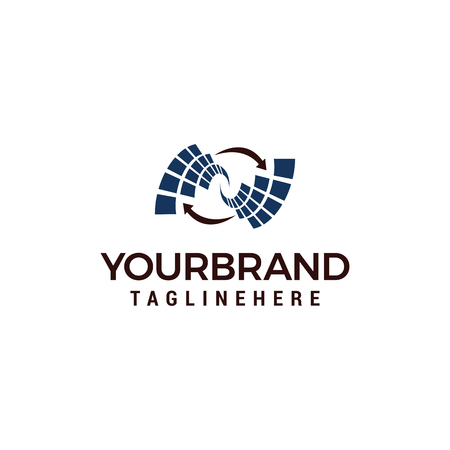 Rotation tech logo design template elements