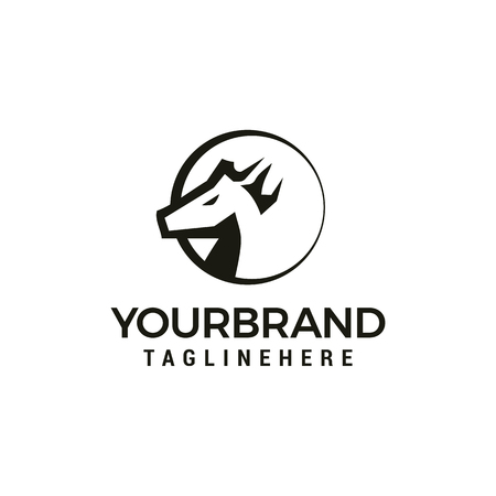 Head Horse logo design template elements 写真素材 - 115782012