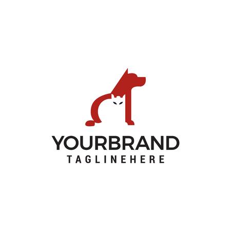 Dog and Cat Logo. Animal care logo design vector template Ilustração