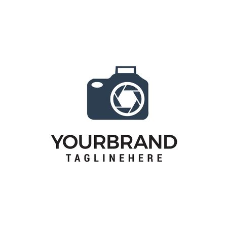 Photo camera logo design vector template