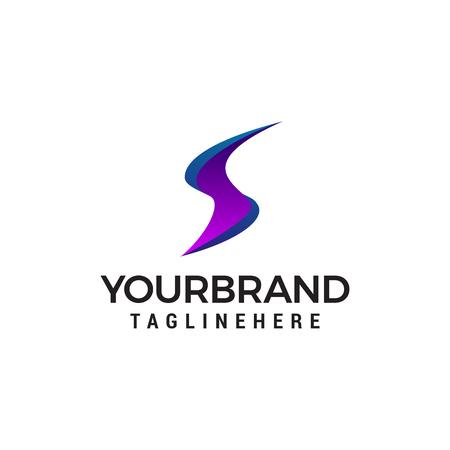 lettera S logo moderno Con stile moderno Logo design template vettoriale Logo