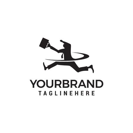 businessman bring bag Logo, job search concept, recruitment logo design vector template