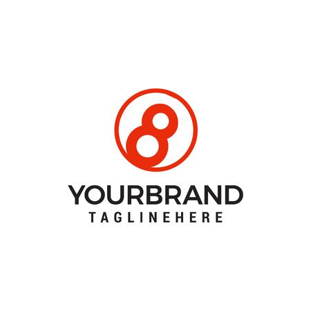 eight ball logo Template vector icon design