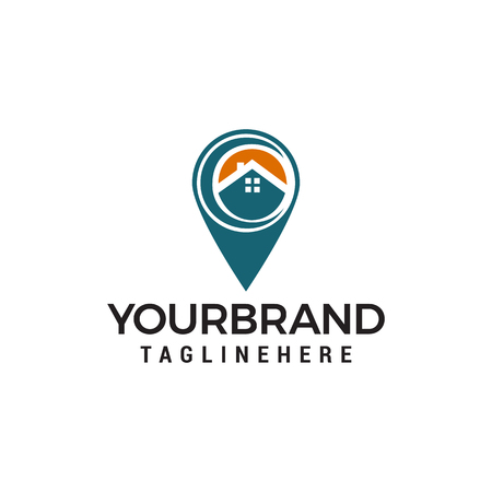 house location logo Template vector icon design Logo