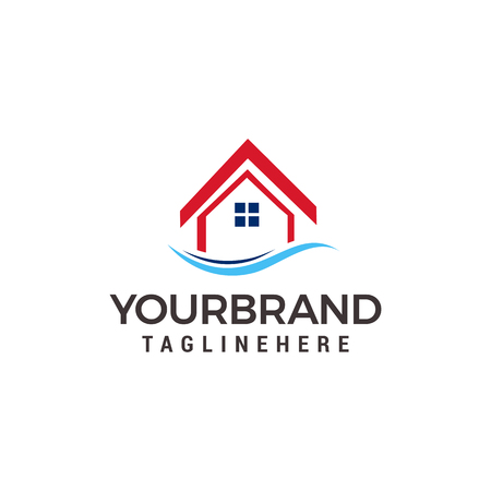 house logo design template vector