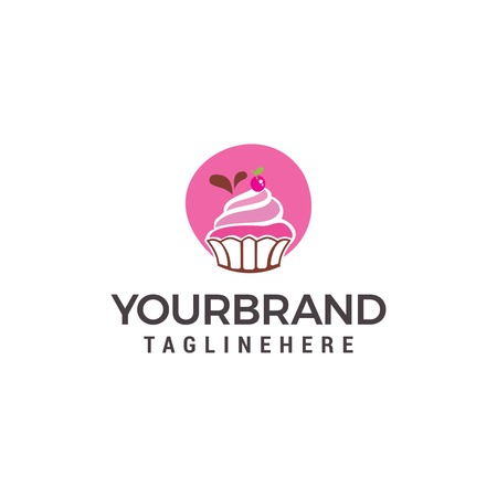 Cake And Cookies Logo Design Template