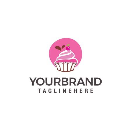 Modèle de conception de logo de gâteau et de biscuits Logo