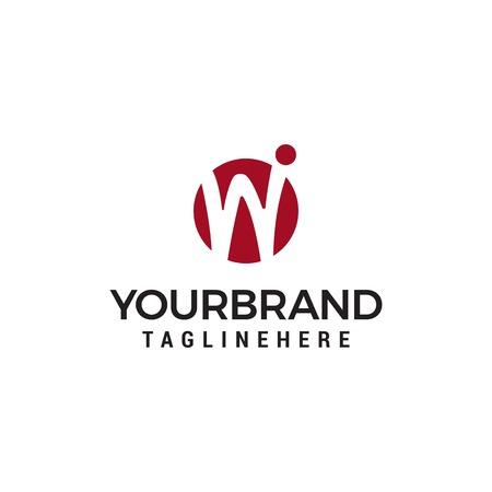Initial letter W logo Design Template Ilustrace