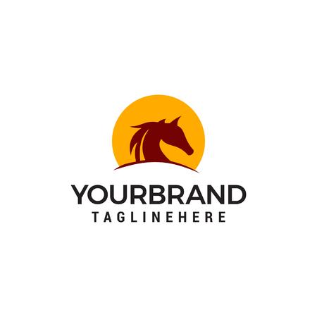 Horses Logo Vector illustration Design Template Illustration