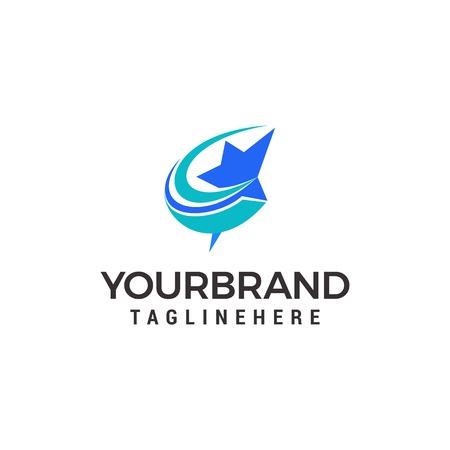 fast star logo, launch star logo design Stock Vector - 116571634