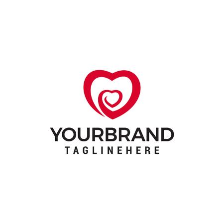 Heart vector symbol. Love heart logo design concept template