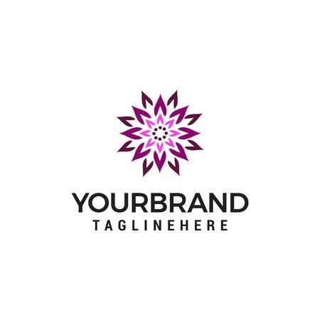 abstract lotus logo design concept template