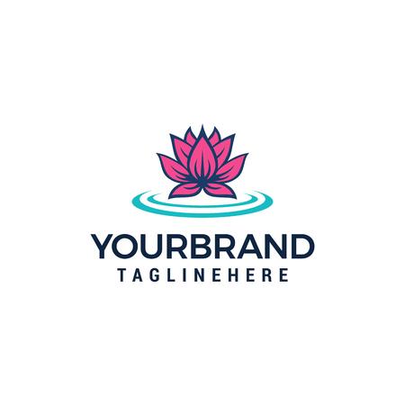Lotus Flower Logo Beauty Spa salon logo design concept template Stock Vector - 116571646