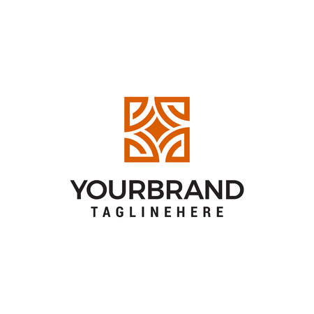 Interior store logo design concept template