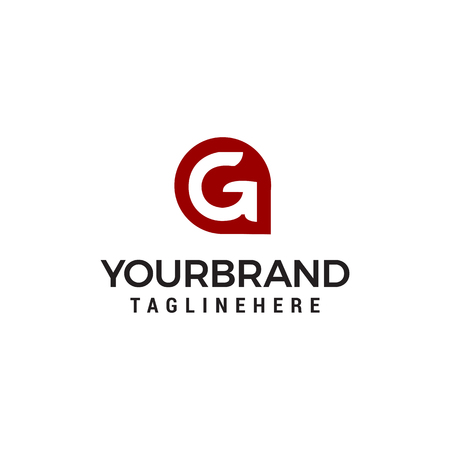 Letter G app Modern Shape logo design concept template Illusztráció