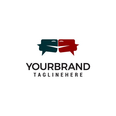 Discuss Talk chat Logo designs concept template Illustration