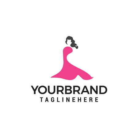 Beautiful fashion woman Logo designs concept template Illustration
