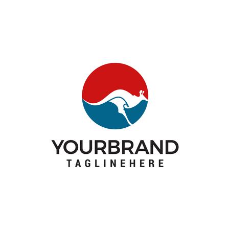 kangaroo logo designs concept template Illustration