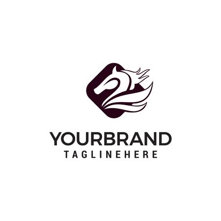 head horse logo designs concept template