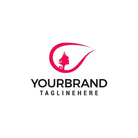 woman hair style logo, beauty salon logo designs concept template