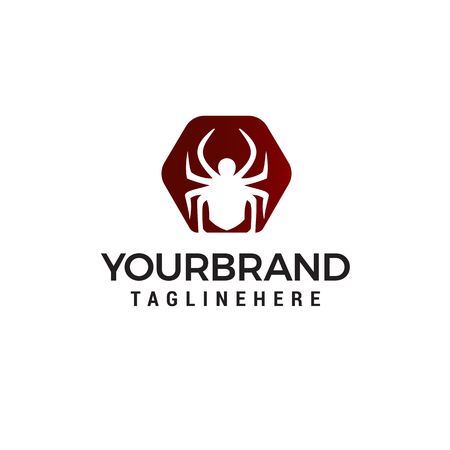 spider logo design concept template vector Illustration