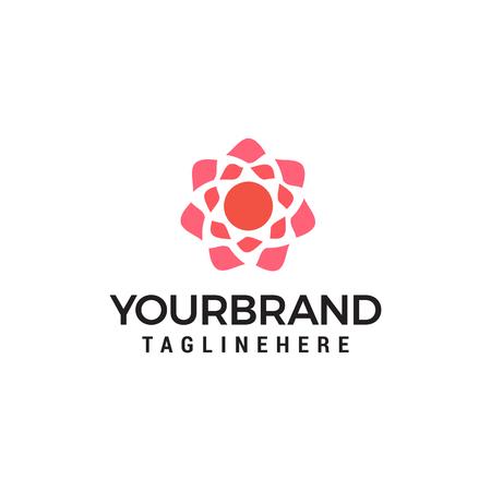 Geometric flower logo design concept template vector Banque d'images - 121012688