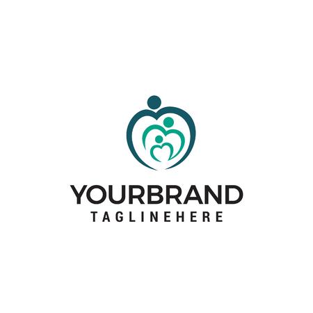 Family love logo design concept template vector Banco de Imagens - 121012698