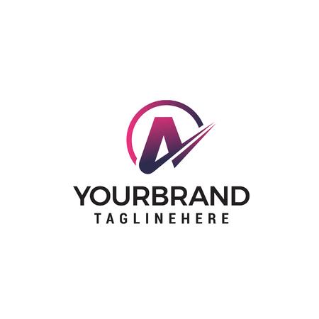 letter A logo design concept template vector  イラスト・ベクター素材