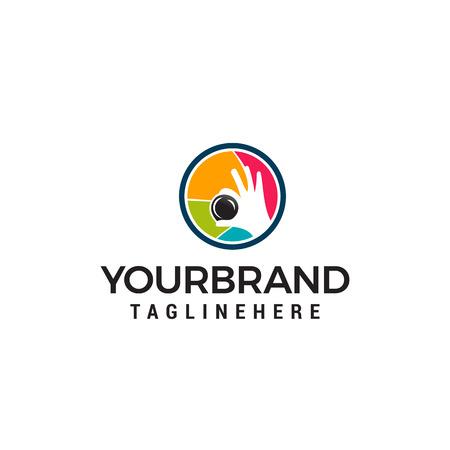 Photographie shoot logo design concept template vecteur