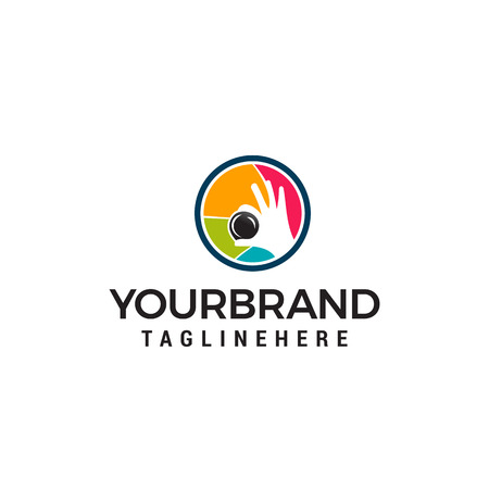 Photography shoot logo design concept template vector Banque d'images - 121012705