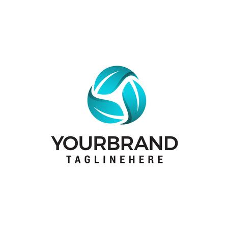 Plantilla de concepto de diseño de logotipo de vector reciclado de hoja Logos