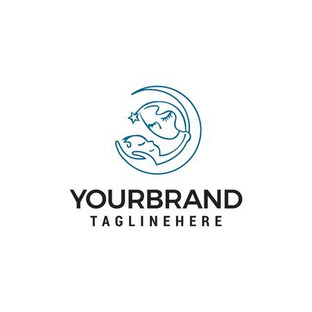 Mom baby care logo design concept template vector Stock Illustratie