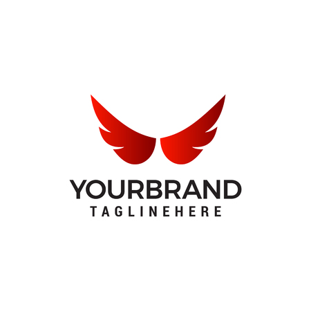 wings logo design concept template vector Illustration