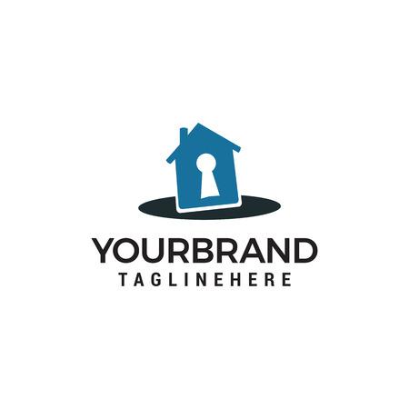 house key logo design concept template vector