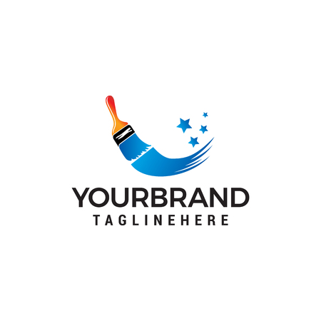 Pinsel Logo Design Konzept Vorlage Vektor concept