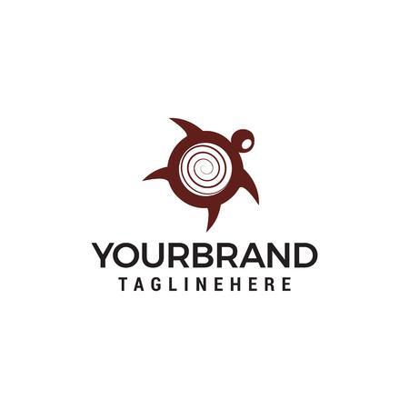 Turtle logo design concept template vector Vettoriali