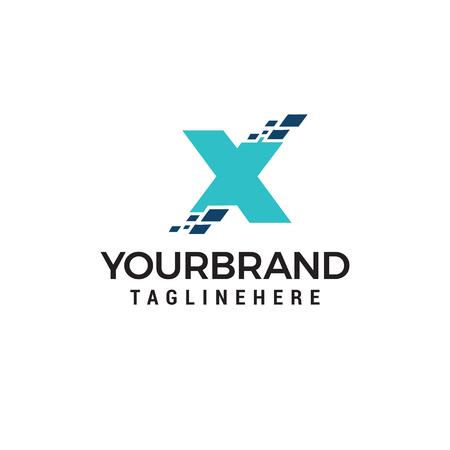 Letter X Technology logo, Letter X Pixel logo design template Vectors