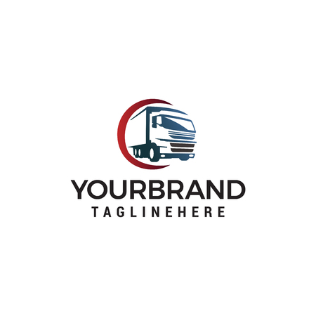 truck Transportation logo design concept template vector