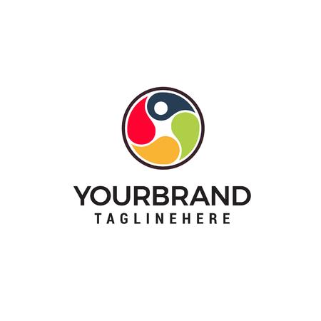 logo opieki zdrowotnej człowieka, logo fizjoterapii, logo skoku człowieka, logo litery p