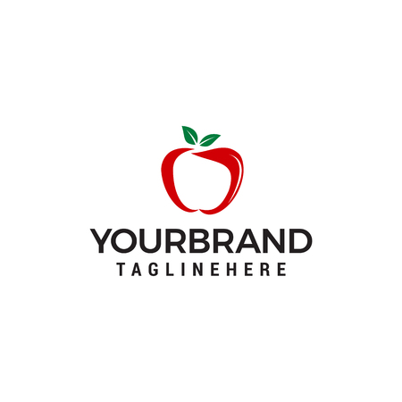 Apple fruit logo design concept template vector Illustration