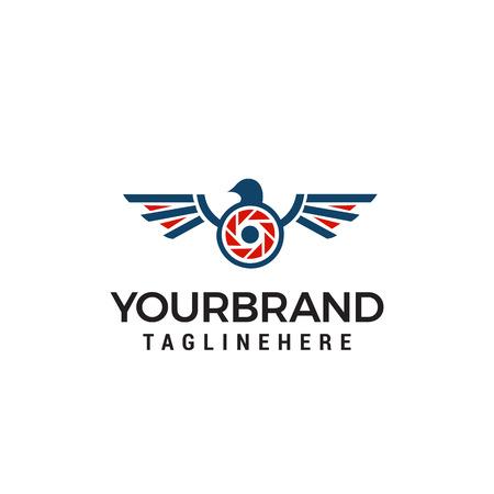 drone photography logo design concept template vector