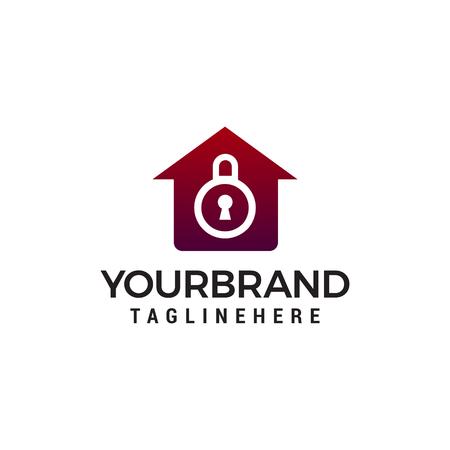 house security logo design concept template vector Banque d'images - 121296859